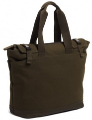 "North South Tote 11""-13"" with long handle - Olive"