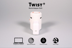 Twist Plus+ World Adapter DUO designed for Macbook