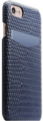 SLG D3 Italian Lizard Leather Back Case for iPhone 8 / 7 - Blue