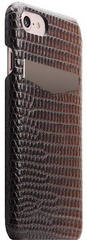 SLG D3 Italian Lizard Leather Back Case for iPhone 8 / 7 - Brown
