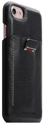SLG D6 Italian Minerva Box Leather Back Case for iPhone 8 / 7 - Black