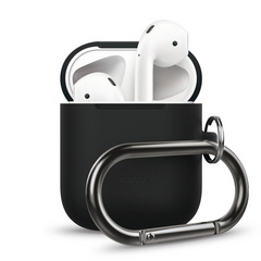 Elago Airpods Silicone Hang Case - Black