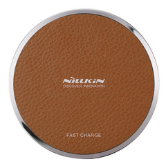 Nillkin Leather Wireless Fast Charging Pad - Brown