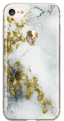 BMT Treasure Alabaster/Gold Skull case for iPhone 7/8