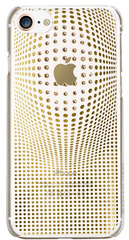 BMT Warp Deluxe case for iPhone 8 - Gold/Crystals