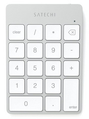 Aluminum Slim Rechargeable Bluetooth Keypad - Silver