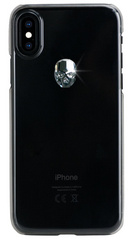 BMT Treasure Clear Silver Skull case for iPhone Xs Max