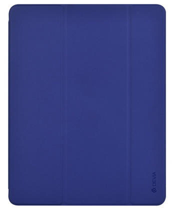 "Devia Leather iPad 10.2"" case with Apple Pen Holder - Blue"