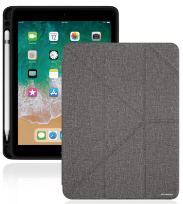 "JT Legend Amos for iPad 9.7"" 2018 with Apple Pen Holder - Dark Gray"
