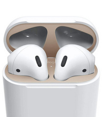 Elago Airpods Dust Guard - Matt Rose Gold with 18K Gold Plating (2 sets)