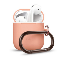 Elago Airpods Silicone Hang Case - Peach