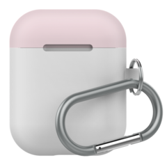 LabC Airpods Silicone Duo Hang Case - White/Coral/Pink