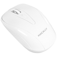 Macally Wireless 3 button optical RF mouse for Mac/PC - White
