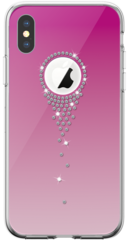 Devia Angel Tears Series Crystal Case for iPhone Xs Max - Pink