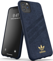 Adidas Moulded Ultrasuede Case for iPhone 11 PRO Max - Blue