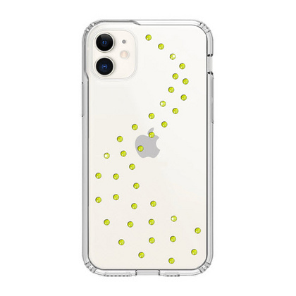 BMT Milky Way Clear case for iPhone 11 - Neon Yellow