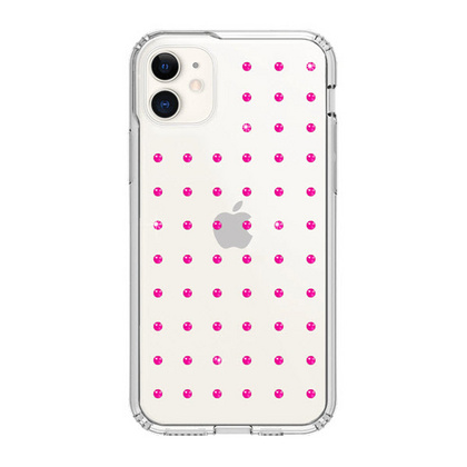 BMT Extravaganza Clear case for iPhone 11 - Neon Pink