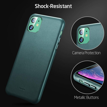 ESR Premium Real Leather Case for iPhone 11 - Pine Green