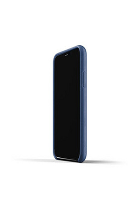 MUJJO Full Leather Case for iPhone 11 - Monaco Blue