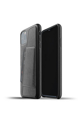 MUJJO Full Leather Wallet Case for iPhone 11 - Black