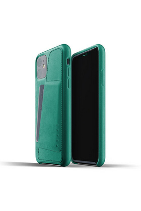 MUJJO Full Leather Wallet Case for iPhone 11 - Alpine Green