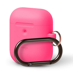 Elago Wireless Airpods Silicone Hang Case - Neon Hot Pink