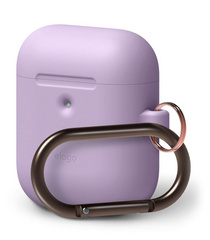 Elago Wireless Airpods Silicone Hang Case - Lavanda