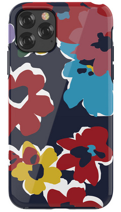 DEVIA Flowers Case for iPhone 11 PRO - Blue