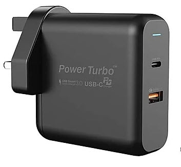 Wiwu Power Turbo Wall Charger UK plug - Black