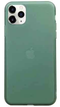 Liquid Silicone Soft case for iPhone 11 PRO Max - Green