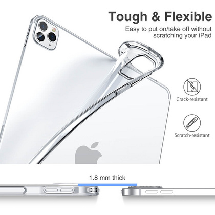 Sdesign Soft TPU Case for iPad 12.9'' 2020 - Clear Black