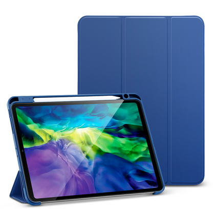 Sdesign Silicone Case with Apple Pencil holder for iPad Pro 11'' 2020 - Blue