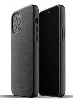 MUJJO Full Leather Case for iPhone 12/PRO - Black
