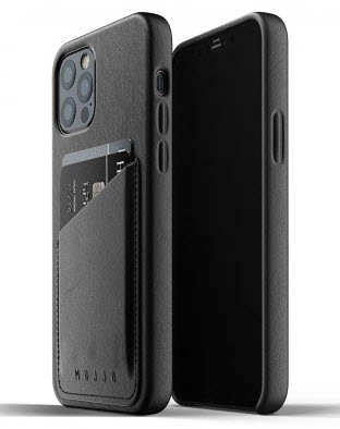 MUJJO Pocket Leather Case for iPhone 12/PRO - Black