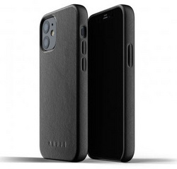 MUJJO Full Leather Case for iPhone 12 Mini - Black