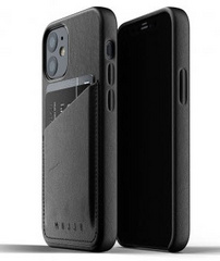 MUJJO Pocket Leather Case for iPhone 12 Mini - Black
