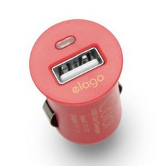 COLOR USB Car Charger - Red