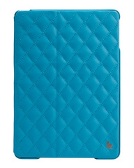 Quilted Leather Smart Case for iPad Air - Blue