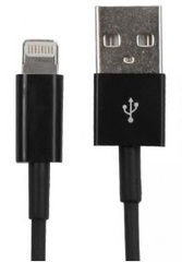 Lightning to USB Cable- Black - 1M