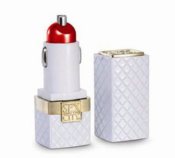 Sex and the City -  Lipstick USB Car Charger (SWAROVSKI) - White