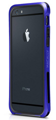 Macally Flexible Protective framecase for iPhone 6/6s - Blue