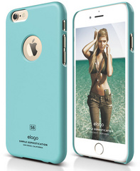 Elago S6 Slim Fit Case for iPhone 6 ONLY - Shiny Coral Blue