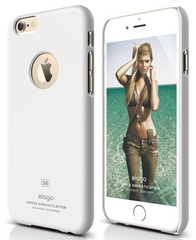 Elago S6 Slim Fit Case for iPhone 6 ONLY - Shiny White