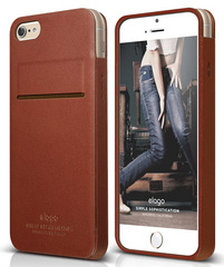 S6 Leather case - Brown