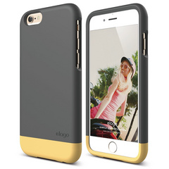 S6 Glide for iPhone 6 only - Dark Gray / Creamy Yellow