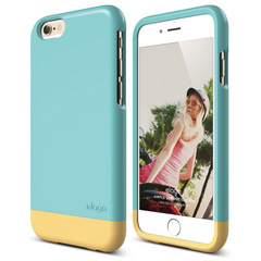 S6 Glide for iPhone 6 only - Coral Blue / Creamy Yellow
