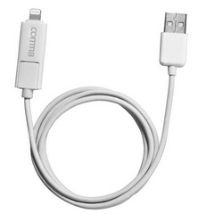 2-in-1 charge & sync cable - White