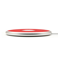 Design Flat Leather Charging Station - Red