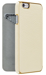 Adopted Leather Folio case for iPhone 6/6s - White/Gold