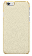 Adopted Leather Wrap case for iPhone 6/6s- White/Gold